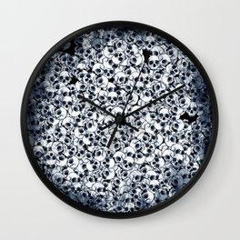 Skull Sketch Pattern Wall Clock