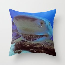 Snooty Shark Portrait Throw Pillow