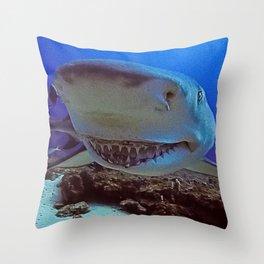 Snooty Shark Portrait Throw Pillow