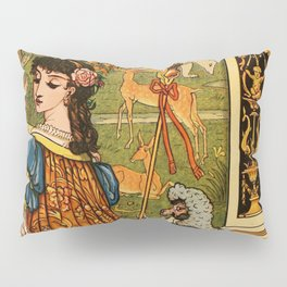 Vintage French Beaut and the Beast illustration Pillow Sham