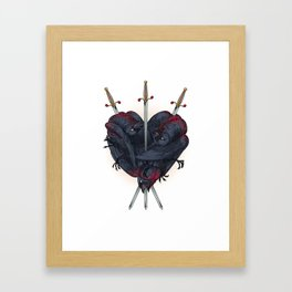 Three Of Swords Framed Art Print