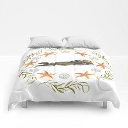 Sea Otter Mandala 1 - Watercolor Comforters