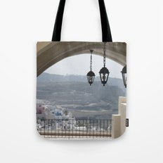 Lighting Santorini, Greece Tote Bag