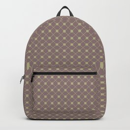 Earthy Green on Grape Vine Purple Parable to 2020 Color of the Year Back to Nature Polka Dot Grid Backpack