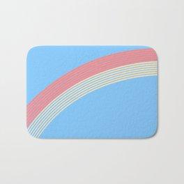 rainbow stripe 10 Bath Mat