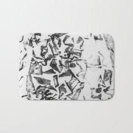 Abstract black white geometric paper triangles pattern Bath Mat