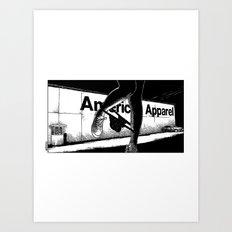 asc 503 - La vente à la sauvette (The backyard sale) Art Print