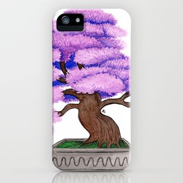 Violet Bonsai iPhone Case