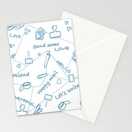 Let's write a postcard Stationery Cards