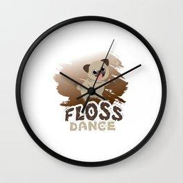 Floss Dance Move Pug Wall Clock