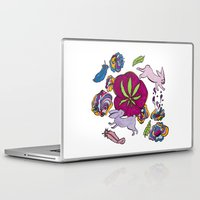 cannabis Laptop & iPad Skins featuring Cannabis Bunnies by Ri 13