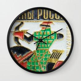Russian Soldiers: Russian Lapel Pin Wall Clock