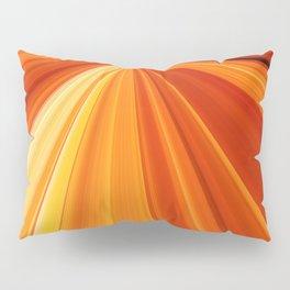 Bright Orange Sun Glare Pillow Sham