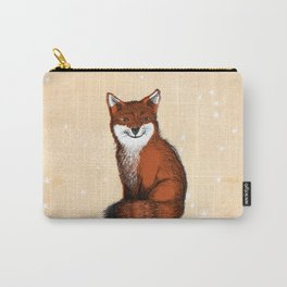 Feeling Foxy Woodland Animal Illustration Carry-All Pouch
