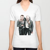 breaking bad V-neck T-shirts featuring Breaking Bad by 13 Styx