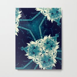All About Blue Metal Print