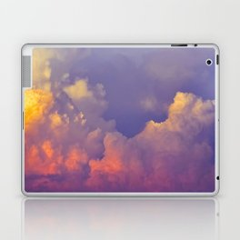 Purple Pastel Clouds Fluffy Cotton Candy Whimsical Fairytale Sky Laptop & iPad Skin