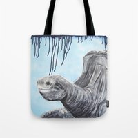 tortoise Tote Bags featuring Tortoise  by Zachary Laman