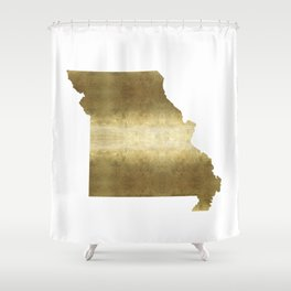 missouri gold foil state map Shower Curtain