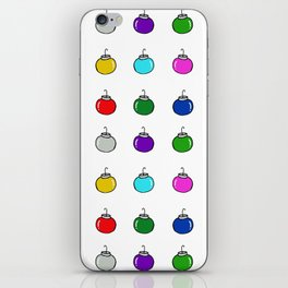 Colorful Christmas Baubles iPhone Skin