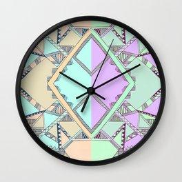 Aztec print illustration Wall Clock