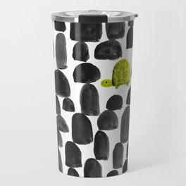 Turtle in Stone Garden Travel Mug
