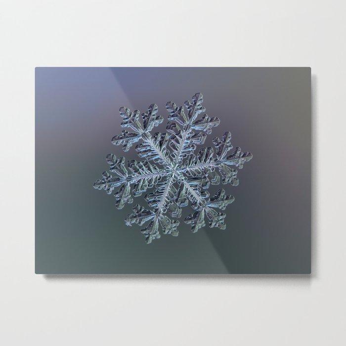 Real snowflake - Hyperion dark Metal Print