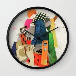 Sunset Mountain Paper Pile Wall Clock