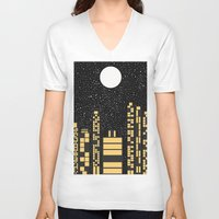 starry night V-neck T-shirts featuring Starry Night by Alisa Galitsyna