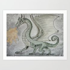 Fire Breathing Dragon Art Print