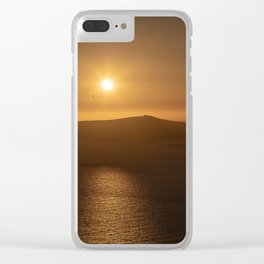 Golden Hour in Santorini Clear iPhone Case