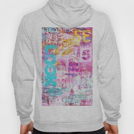 colorful mixed media typography Hoody