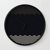 chevron Wall Clocks featuring Chevron by Georgiana Paraschiv
