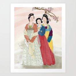 The 3 Graces Art Print