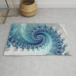 Sound of Seashell - Fractal Art Rug
