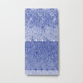 sarasa paisley all over in blues Metal Print