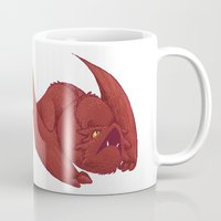 smaug Mugs featuring Baby Smaug - Textless by Kinsei