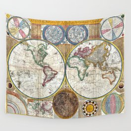 Old World Map print from 1794 Wall Tapestry