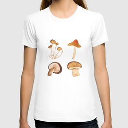 mushroom watercolor painting T-shirt