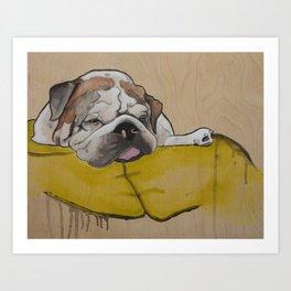 Mr Fatty Shortlegs Art Print