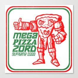 MEGA PIZZA ZORD SUPREME 2000 Canvas Print