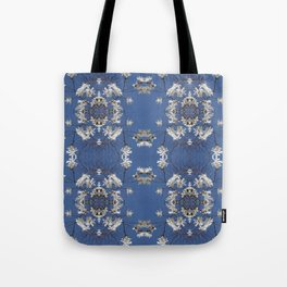 Star-filled sky (Star Magnolia flowers!) - diamond repeating pattern Tote Bag