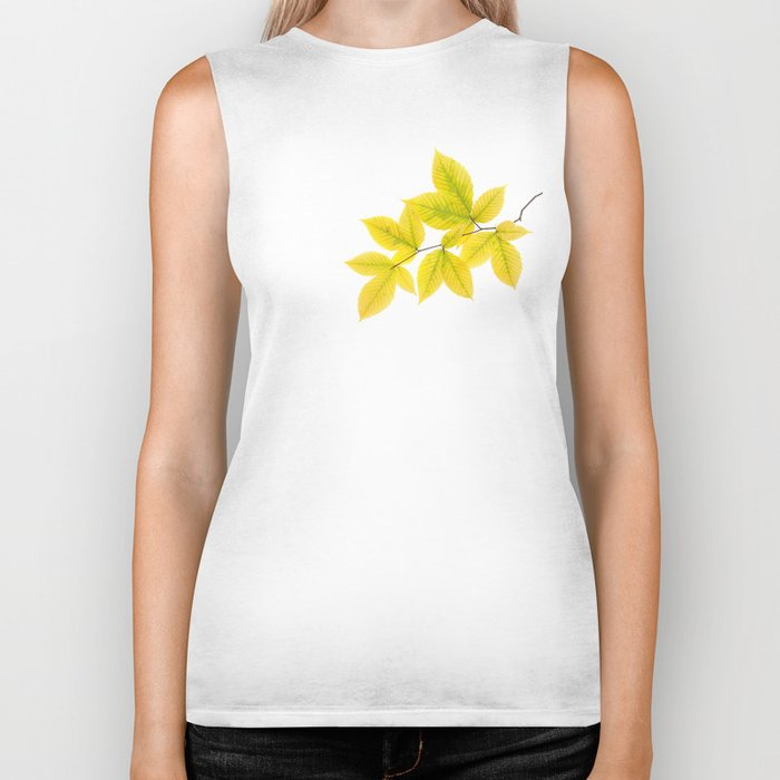 Yellow Leaves Biker Tank