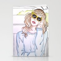 trip Stationery Cards featuring Trip by Clara Serenellini