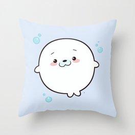 Baby Seal Kawaii Throw Pillow