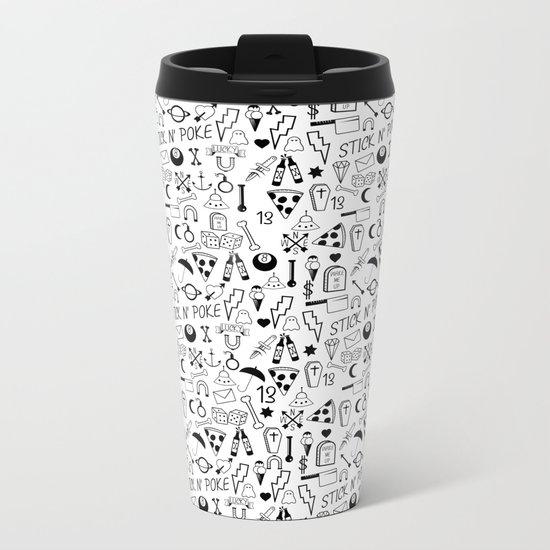 Stick and Poke Tattoo Metal Travel Mug