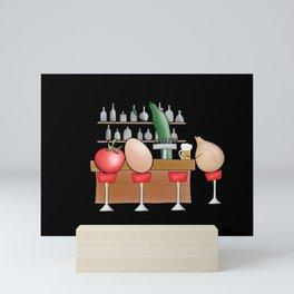 salad bar Mini Art Print