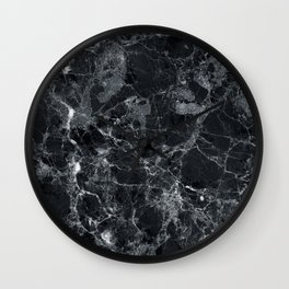 Black marble texture Wall Clock