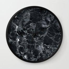Black marble texture Wall Clock
