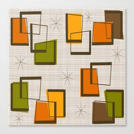 Rectangles and Stars Canvas Print